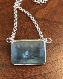 Aquamarine, sterling silver