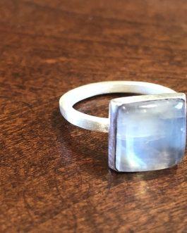Moonstone, sterling silver