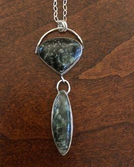 Serephenite, sterling silver