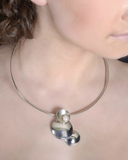 Sterling silver, cultured pearl