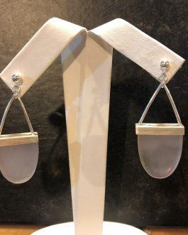Rose quartz, sterling silver