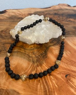 Lava and Gold Necklace