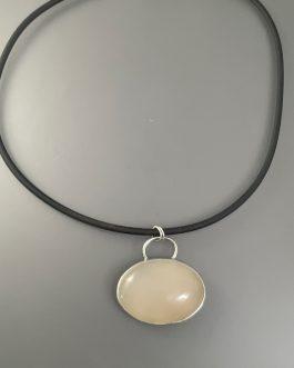 Milky golden quartz necklace
