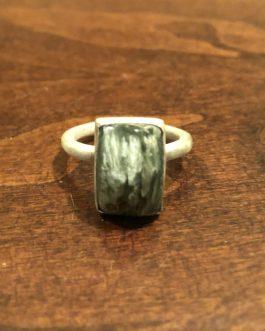 Rectangle Serephenite Ring